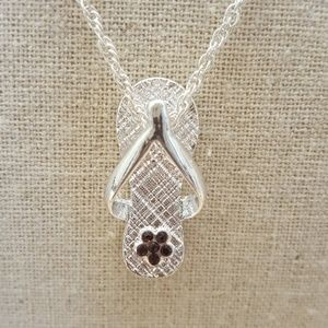 Jewelry - February Birthstone Flip Flop Necklace